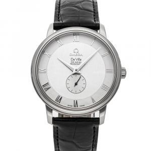 Omega Silver Stainless Steel De Ville Prestige Small Seconds 4813.30.01 Men's Wristwatch 39 MM