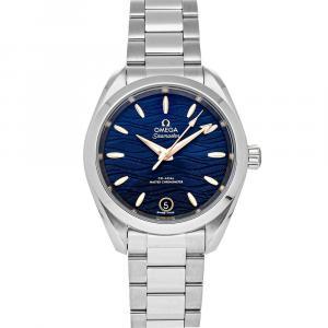 Omega Blue Stainless Steel Seamaster Aqua Terra 150M 220.10.34.20.03.001 Men's Wristwatch 34 MM