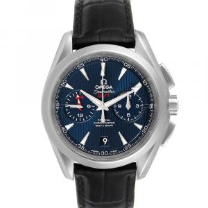 Omega Blue Stainless Steel Seamaster Aqua Terra GMT 231.13.43.52.03.001 Men's Wristwatch 43 MM