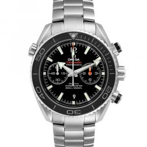Omega Black Stainless Steel Seamaster Planet Ocean 600M 232.30.46.51.01.001 Men's Wristwatch 45.5 MM