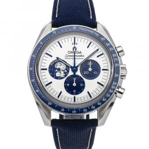 """Omega Silver Stainless Steel Speedmaster Chronograph Anniversary Series """"Silver Snoopy Award"""" 310.32.42.50.02.001 Men's Wristwatch 42 MM"""