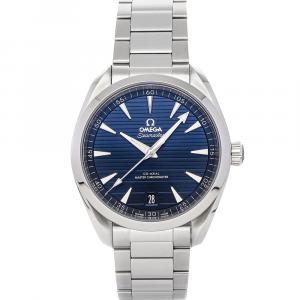 Omega Blue Stainless Steel Seamaster Aqua Terra 150m 220.10.41.21.03.004 Men's Wristwatch 41 MM