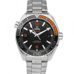Omega Black Stainless Steel Seamaster Planet Ocean 600m 215.30.44.21.01.002 Men's Wristwatch 43.5 MM