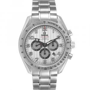 Omega Silver Stainless Steel Speedmaster Broad Arrow 321.10.44.50.02.001 Men's Wristwatch 44 MM