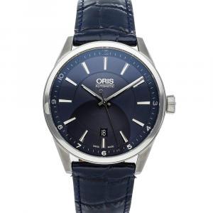 Oris Blue Stainless Steel Artix Date 01 733 7642 4035-07 5 21 85FC Men's Wristwatch 42 MM