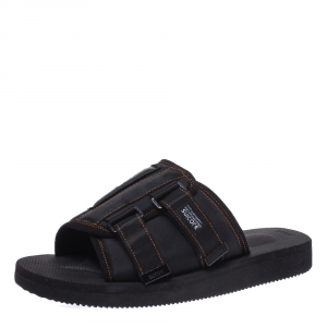 Palm Angels Black Fabric Suicoke Flat Sandals Size 42