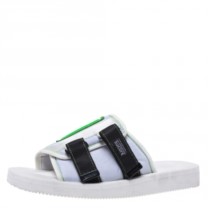 Palm Angels White Fabric Suicoke Flat Sandals Size 42