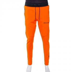 Palm Angels X Under Armour Orange Logo Print Sweatpants M