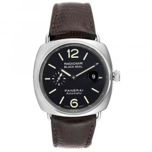 Panerai Black Stainless Steel Radiomir Seal Automatic PAM00287 Men's Wristwatch 45 MM