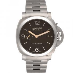 Panerai Black Titanium Luminor Marina 1950 3 Days PAM00352 Men's Wristwatch 44 MM