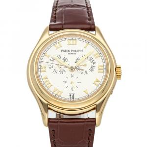 Patek Philippe White 18K Yellow Gold Complications Annual Calendar 5035J-001 Men's Wristwatch 37 MM
