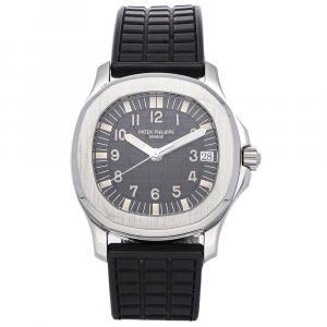 Patek Philippe Black Stainless Steel Aquanaut 5060A-001 Men's Wristwatch 35 MM