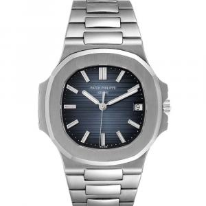 Patek Philippe Blue Stainless Steel Nautilus 5711 Men's Wristwatch 43 x 38 MM