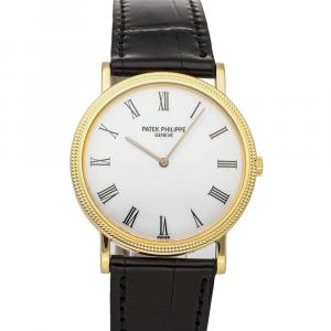Patek Philippe White 18K Yellow Gold Calatrava 3520DJ-001 Men's Wristwatch 32 MM