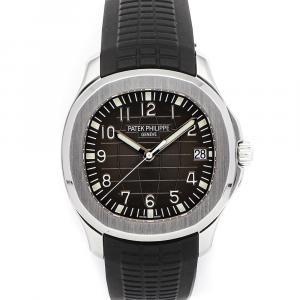 Patek Philippe Black Stainless Steel Aquanaut 5167A-001 Men's Wristwatch 40 MM