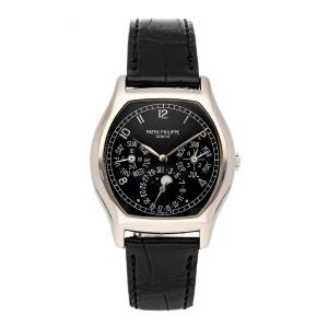 Patek Philippe Black 18K White Gold Grand Complications Perpetual Calendar 5040G-016 Men's Wristwatch 36 MM