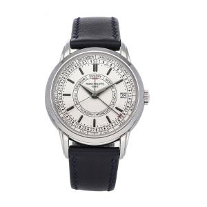 Patek Philippe Silver Stainless Steel Complications Calatrava Weekly Calendar 5212A-001 Men's Wristwatch 40 MM