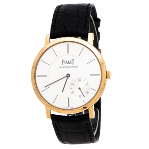 Piaget Silver 18K Rose Gold Altiplano Men's Wristwatch 43MM