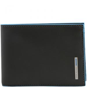 Piquadro Dark Grey Leather Bifold Wallet
