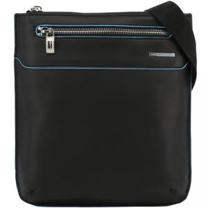 Piquadro Black Leather Messenger Bag