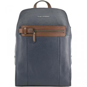 Piquadro Two Tone Leather Backpack
