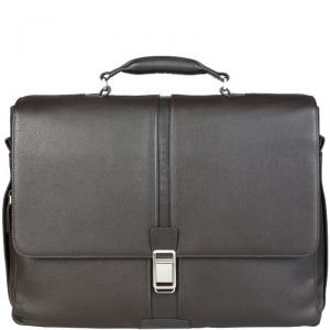 Piquadro Dark Brown Leather Briefcase