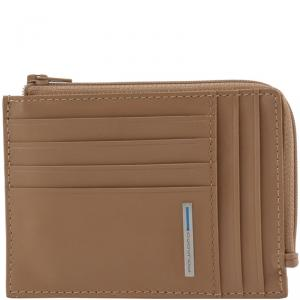 Piquadro Light Brown Leather Credit Card Holder