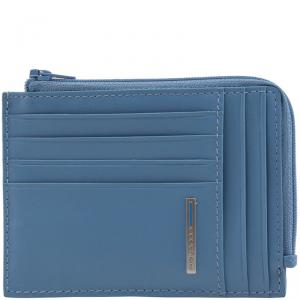 Piquadro Blue Leather Credit Card Holder