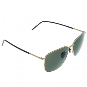Porsche Design Satin Gold/Green P'8630 Square Sunglasses