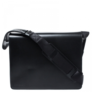 Porsche Design Black Leather Cervo 2.0 Laptop Messenger Bag