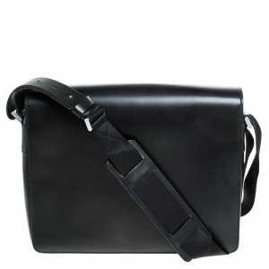 Porche Design Black Leather Messenger Bag