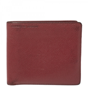 Porsche Design Red Leather Voyager 2.0 Bifold Wallet