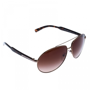 Prada Dark Brown Tortoise Gradient SPR50N Aviator Sunglasses