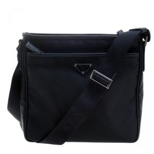 Prada Navy Blue Nylon Messenger Bag