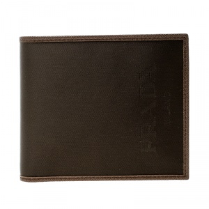Prada Brown Nylon Bifold Wallet