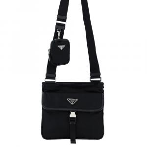 Prada Black Nylon Crossbody Bag