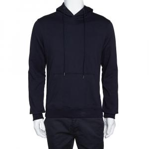 Prada Navy Blue Cotton Hooded Sweatshirt S
