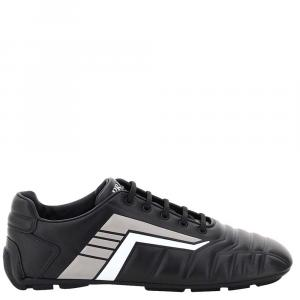 Prada Black/Grey Rev Leather Sneakers EU 43 UK 9