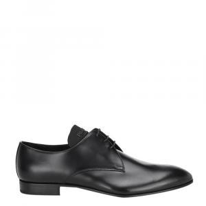 Prada Black Brushed Leather Derby Size UK 8 EU 42