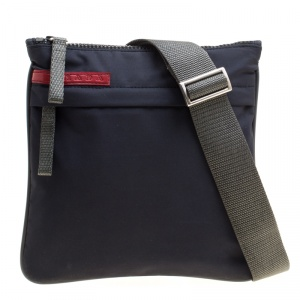 Prada Sport Dark Blue Nylon Crossbody Bag