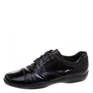 Prada Sport Black Leather Lace Up Derby Size 42.5