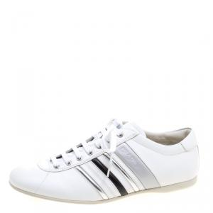 Prada Sport White Leather Low Top Sneakers Size 43