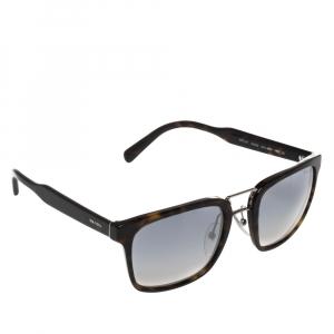 Prada Brown Tortoise SPR 14T Square Sunglasses