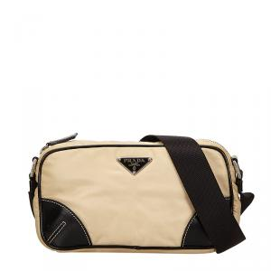 Prada Bi Color Tessuto Nylon/Leather Messenger Bag