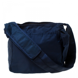 Prada Blue Nylon Messenger Bag