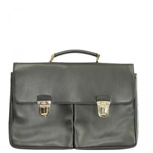 Prada Black Leather Laptop Bag