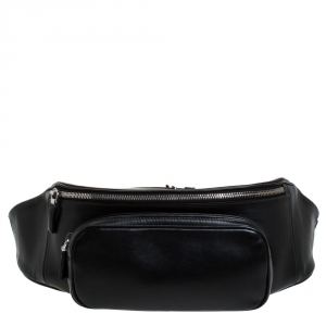 Prada Black Leather Belt Bag