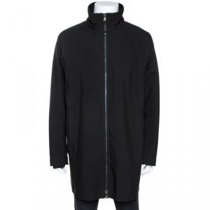 Prada Black Nylon Zip Front Jacket XXL