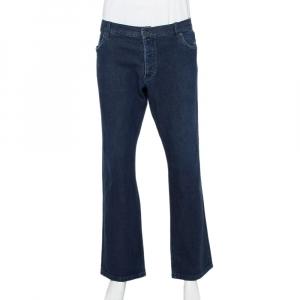 بنطلون جينز برادا دينم أزرق كحلي أرجل مستقيمة مقاس 3 إكس لارج - كبير جدًا جدًا جدًا