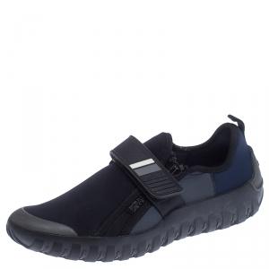 Prada Black/Blue Nylon Velcro Strap Sneakers Size 41